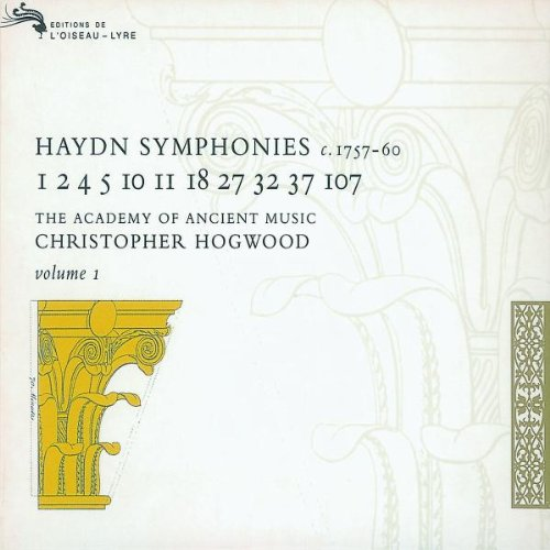 Joseph Haydn: Symphonies, Volume 1 (c. 1757-60) - The Academy of Ancient Music Chrisopher... by Marie Knight, Franz Joseph Haydn, Christopher Hogwood, Robin Canter and Andrew Clark