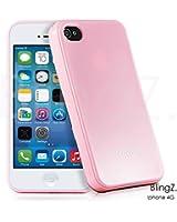 TheBlingZ.® silicone TPU Housse Etui Coque iPhone4 4S - Silicone Étui Housse Protecteur Case - Rose