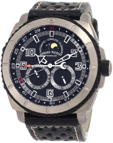 Armand Nicolet Men's T612A-GR-P760NR4 S05 Sporty Automatic Titanium Watch