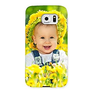 Enticing Laughing Baby Girl Back Case Cover for Samsung Galaxy S6