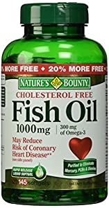 Nature 39 s bounty fish oil 1000 mg cholesterol for Fish oil for high cholesterol