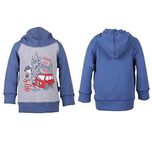 Baby Mini Boys Jungen Sweatshirt mit Kapuze, blau, Größe 98