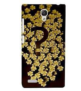 PrintVisa Modern Art Flower Question 3D Hard Polycarbonate Designer Back Case Cover for Xiaomi Redmi Note