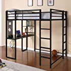 Dorel Home Products Abode Full Size Loft Bed, Black