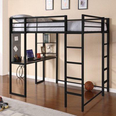 Dorel Home Products Abode Full Size Loft Bed, Black