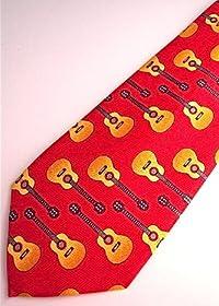 クラシックギターネクタイ 赤 Tie Guitar