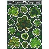 Shamrocks Green Window Clings for St. Patrick's Day Decor
