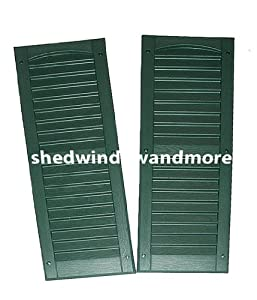 Louvered shed or playhouse shutters green 9 x for 14x27 window