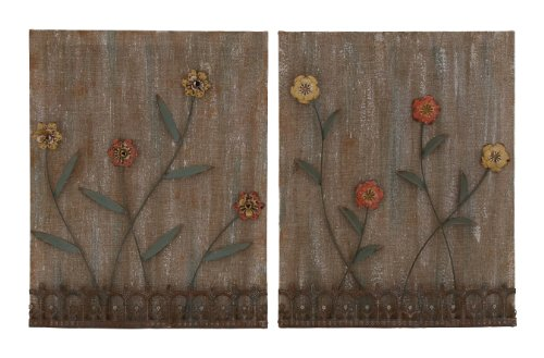 Benzara Lovely and Attractive Assorted Wall Decor, Set of 2 - 1