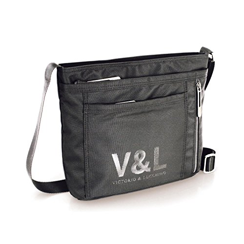V&L - VICTORIO & LUCCHINO NERO UNISEX MESSENGER BAG, Color Grigio