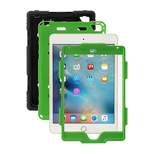 Ipad Mini 4 Case, Aceguarder [New Hot] Outdoor Water proof Shock proof Rain proof Dirt proof Cover Case with Ipad Mini 4 (Black Green) (Chicken Ipad Mini Case compare prices)