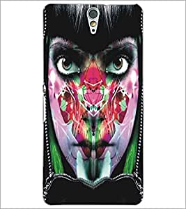 SONY XPERIA C5 PAINTED GIRL Designer Back Cover Case By PRINTSWAG