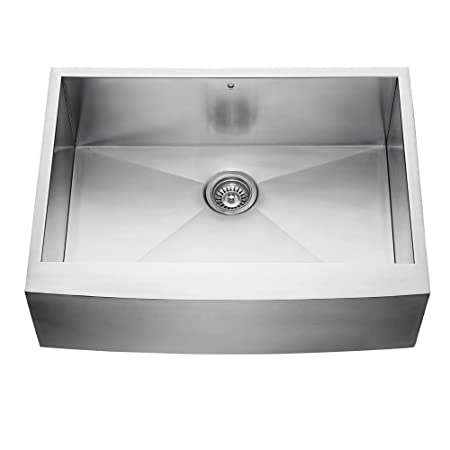 VIGO 30 inch Farmhouse Apron Single Bowl 16 Gauge Stainless Steel Kitchen Sink