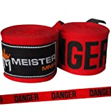 "180"" Elastic Cotton MMA Handwraps (Pair) - Danger Red"