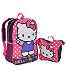"Hello Kitty 15"" Backpack with Lunch Bag - Dots"
