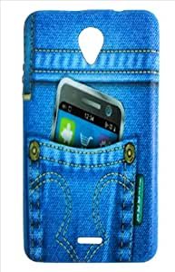 Generic Denim Jeans Printed Back cover for Micromax A106 - Multi Colour