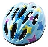 びっくり 軽い ヘルメット 幼児 キッズ 子供 小学生 選べる サイズ カラー 頭 安全 自転車 スケート ボード キック ボード かわいい めんこい おしゃれ (11.スター(中))
