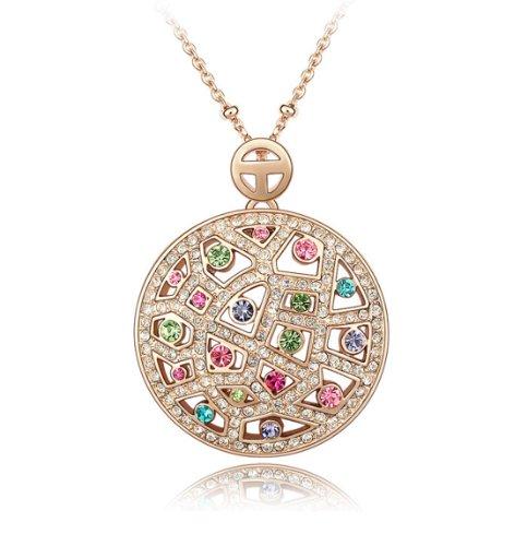 Boxingcat Fine Jewelry Swarovski Style Clear Austrian Crystal Pendant Necklaces Bgca3541 front-517952