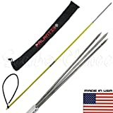 5 Travel Spearfishing Two-Piece Fiber Glass Pole Spear 3 Prong Barb Paralyzer & Bag