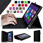 [Corner Protection] Fintie Folio Case for Microsoft Surface Pro / Surface Pro 2 Windows 8 Tablet 10.6 Inch Premium Leather Cover with Stylus Holder (Does not Fit Windows RT Version) , Black