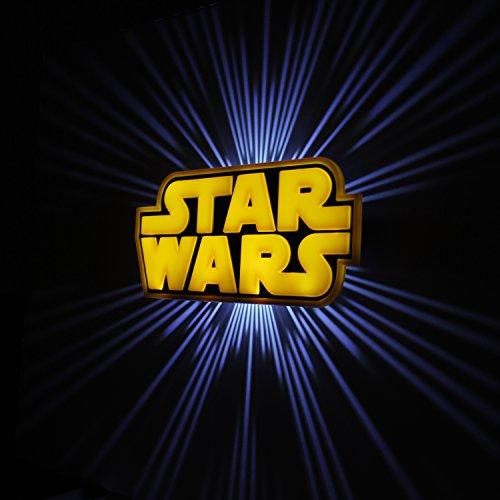 star wars logo 3d deco mur lumi re. Black Bedroom Furniture Sets. Home Design Ideas