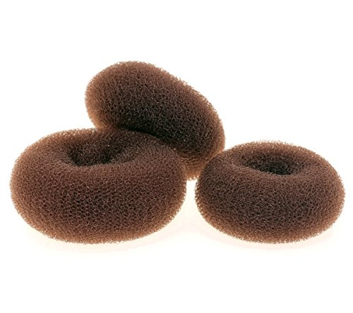 how to put a doughnut on long hair