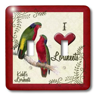 I Love Lorikeets Double Toggle Switchplate