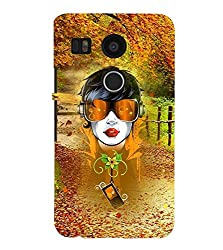 FUSON 3D Designer Back Case Cover for NEXUS5X D10102