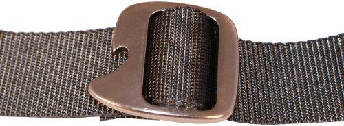 Bison Designs Tap Cap 38Mm Belt With Gunmetal Buckle (Graphite, Max 38-Inch Waist/Medium)