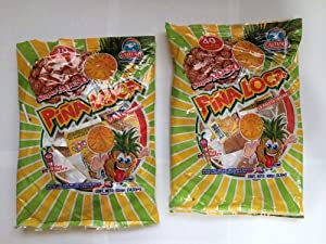 Lollipop, Paletas De Sabor Pina Con Chile, 2 Bags, 80 Pieces Total