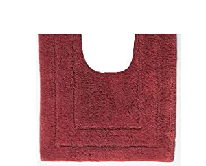 Country Living Egyptian Cotton Contour Bath Rug Brick Red Kitchen Home
