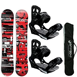 AIRTRACKS SNOWBOARD SET - WIDE BOARD RIOT 167 - SOFTBINDING SAVAGE L - SB BAG