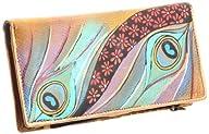 Anuschka 1088 DNP Wallet,Dancing Peacock,One Size