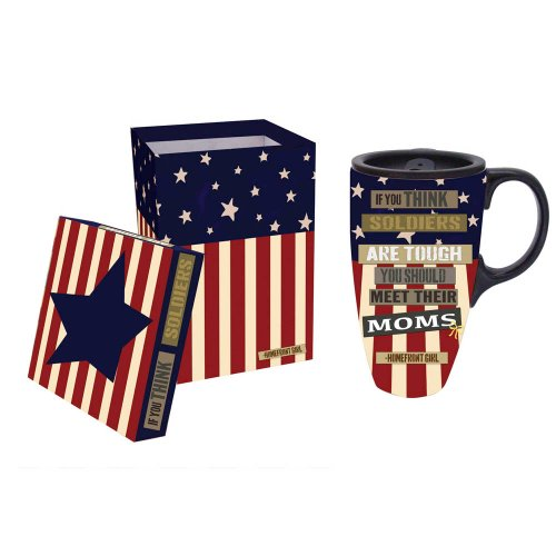 Tough Military Mom Ceramic Coffee Travel Cup With Gift Box