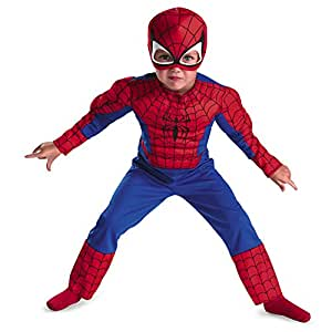 Disguise Marvel Spider Man Toddler Muscle Costume, Large/4 6