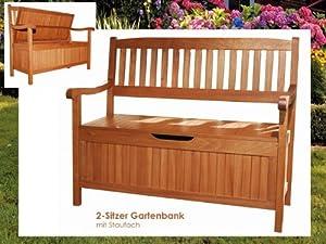 truhenbank houston holz gartenbank mit staufach 2 sitzer bank sitzbank gartenm bel. Black Bedroom Furniture Sets. Home Design Ideas