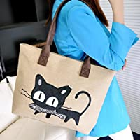 Sac à main, FeiTong Mode féminine bandoulière sac de toile Chat mignon Sac Lunch Bag