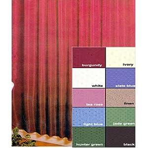 Amazon.com: Lauren Dobby Fabric Shower Curtain Color: Jade: Home ...