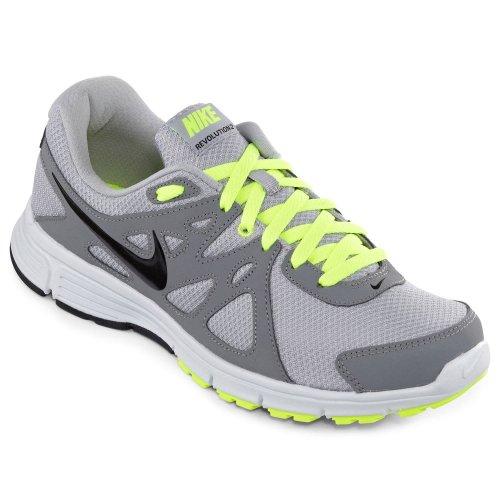Amazing!!! Nike Men's NIKE REVOLUTION 2 RUNNING SHOES 11 Men US (WOLF GREY/BLACK/COOL GREY/VOLT)