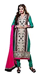 Adah Semi Stitched Silk & Velvet,Shantoon,Chiffon Salwar Kameez -572-7805