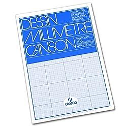 Canson Dessin Graph Pad - A4, Blue Grid