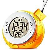 Mstar Water Powered Digital Clock with Temperature,orange