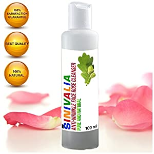 Facial Cleanser by Sinivalia | Cruelty Free, Organic, Anti-Ageing Skin Care Product For All Skin Types, For Women & Men | Use Before Day Or Night Cream | Perfect Under Makeup Primer Moisturiser For Dry, Oily Or Sensitive Skin |Combats Wrinkles, Fine Lines & Blackheads &Enlarged Pores | Suitable For Vegan Use | 100% Satisfaction GUARRANTEE!
