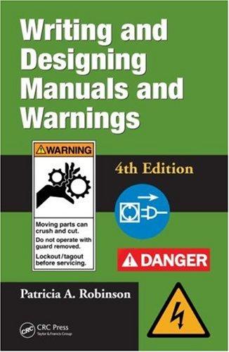 Writing and Designing Manuals and Warnings 4e