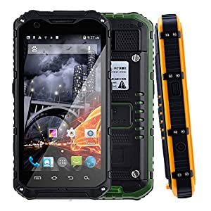 Discovery A9 Waterproof Shockproof Dustproof 3G Smartphone Android 4.2.2 MTK6589-T Quad core 1.3GHz RAM+ROM 2G+16G Dual SIM Dual Standby with 3000 mAh Battery (Black)