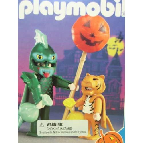 Amazon.com: Playmobil 3026 Dragon and Tiger Halloween Set