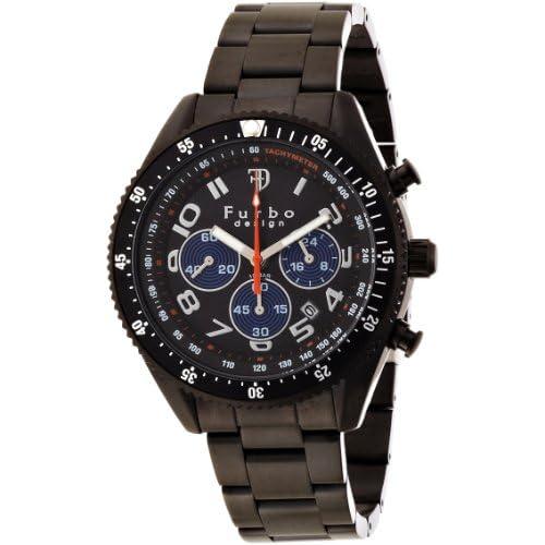 [フルボデザイン]Furbo Design Ilsole 腕時計 FS001 ソーラークォーツ クロノグラフ 10気圧防水 ブラックIP ブラック メンズ FS001BBK メンズ