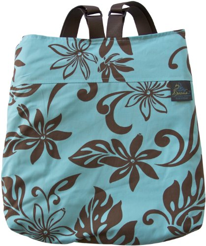 Sky Dreams Travel Blanket Kaianna Hawaiian Flowers Turquoise Backpack front-950921
