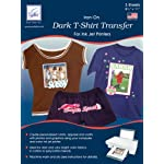 June Tailor 8-1/2-Inch by 11-Inch Dark T-Shirt Inkjet Transfers, 3-Pack