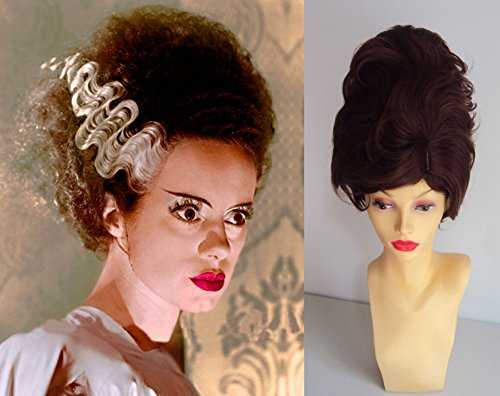 Deluxe Halloween Fashion Bride Of Frankenstein Beehive Costume Wig